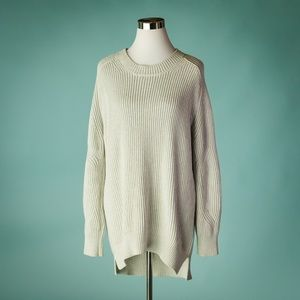 Allsaints L Gray Ribbed Tunic Sweater